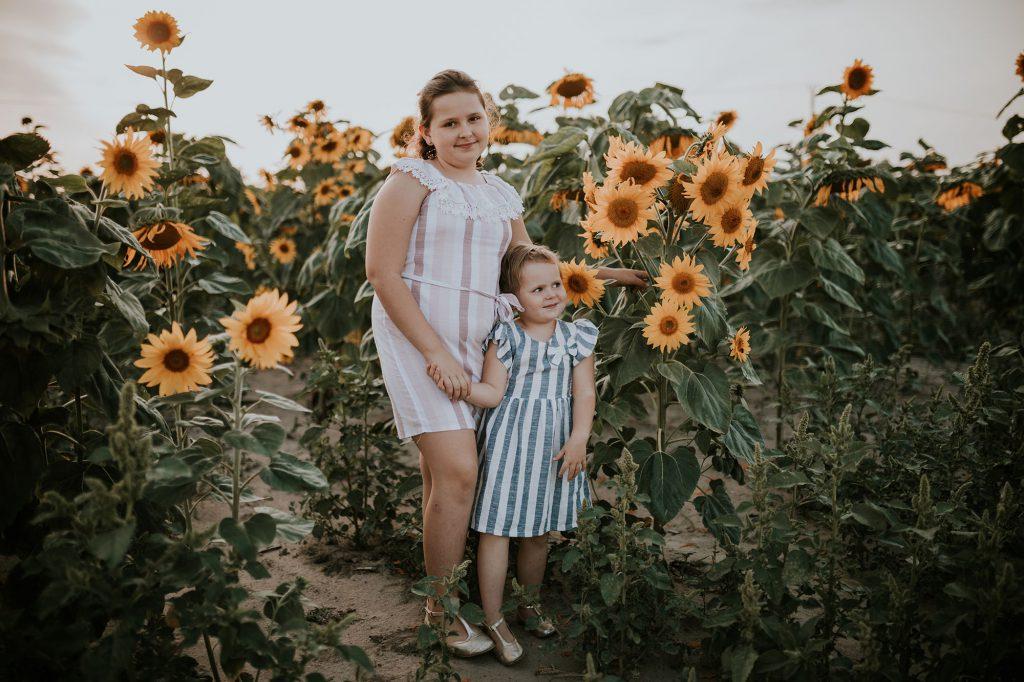 sesja rodzinna słoneczniki sochaczew
