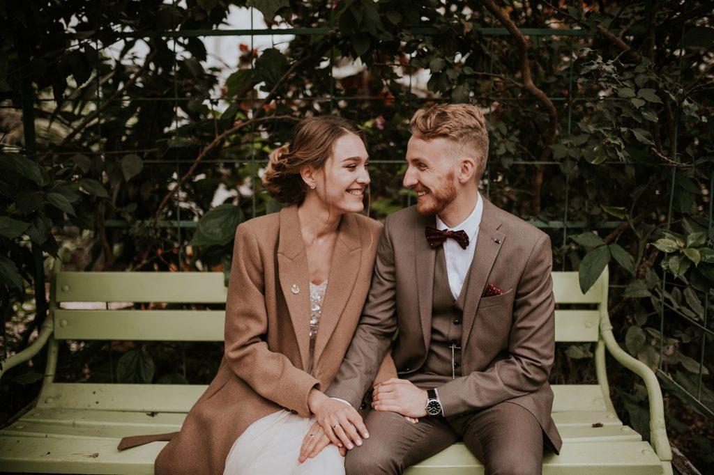 plener sesja ślubna powsin szklarnia ogród botaniczny